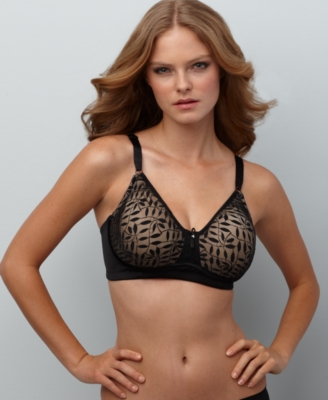Olga's Christina Bra, Sheer Leaves Wireless