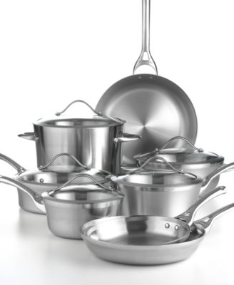 Calphalon Contemporary Stainless Steel 13 Piece Cookware Set