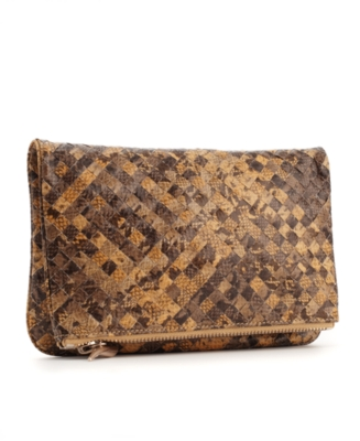 Rachel Rachel Roy Handbag, Woven Python Fold Over Clutch