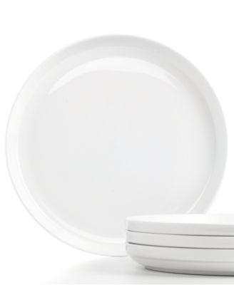 CLOSEOUT! Stax Living Porcelain Dinnerware, Set of 4 White Dinner Plates