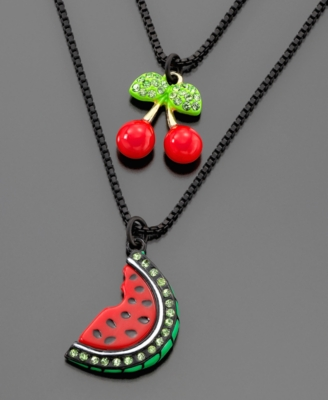 Oversized Pendant Necklace - Betsey Johnson
