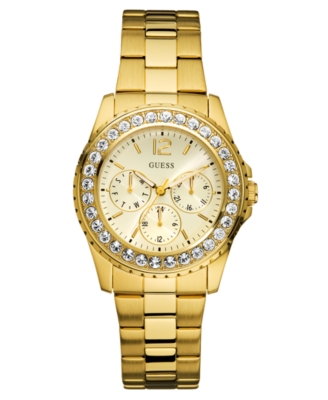 GUESS Watch, Women's Goldtone Stainless Steel Bracelet U12005L1