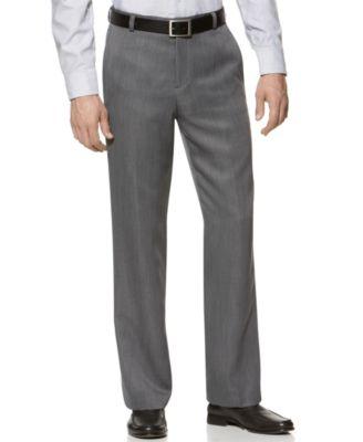 Calvin Klein Modern Fit Microfiber Flat Front Dress Pants - Pants ...