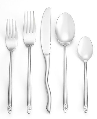 Gourmet settings flatware seashell 20 pc set service for 4 - Gourmet settings silverware ...