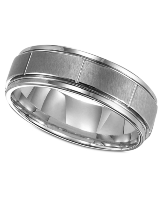 Men's Tungsten Ring, 7 mm Band (Size 8-15)