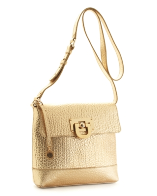 DKNY Handbag, French Grain Leather Crossbody Bag