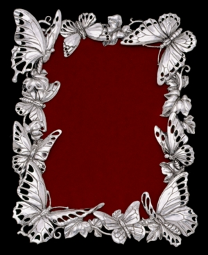 "Arthur Court Picture Frame, Butterfly 5"" x 7"""