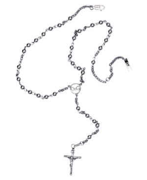 D&G Necklace, Silvertone Mixed Metal Cross