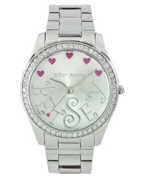 Betsey Johnson Watch, Women's Silvertone Bracelet BJ4214