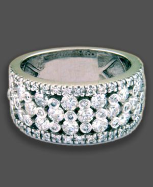 14k White Gold Ring, Diamond (2 ct. t.w.)