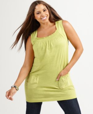 Style&co. Plus Size Top, Sleeveless Slub Tunic