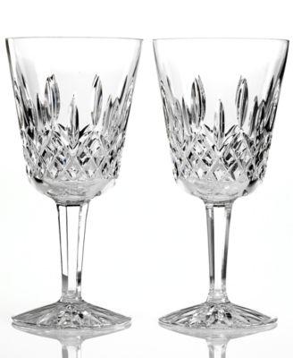 Waterford Stemware, Lismore Goblets, Set of 2