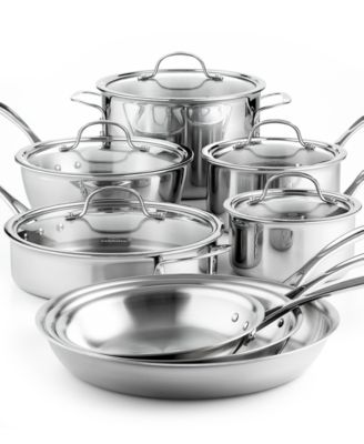 Calphalon Tri Ply Stainless Steel 13 Pc Cookware Set