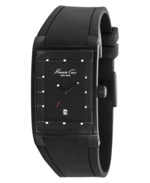 Kenneth Cole New York Watch, Men's Black Silicone StrapKC1642