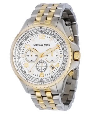 MICHAEL Michael Kors Watch, Men's Two Tone Stainless Steel Bracelet MK8135