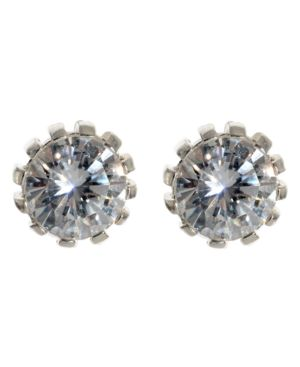 Betsey Johnson Earrings, Crystal Accent - Gemstone Studs