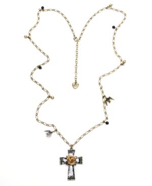 Betsey Johnson Necklace, Cross