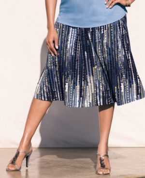 Alfani Plus Size Skirt, Printed Knit