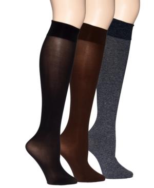 HUE Socks, Soft Opaque Knee High Trouser