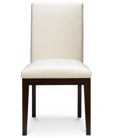 Bari dining chair white leather furniture macy39s for Macys dining room chairs
