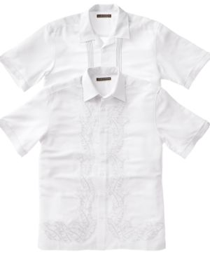 Cubavera Shirt, Short Sleeved Embroidered