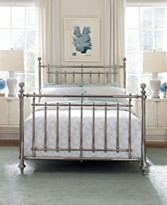 macys martha stewart nickel plated metal irvington bed metal beds bedroom furniture. Black Bedroom Furniture Sets. Home Design Ideas