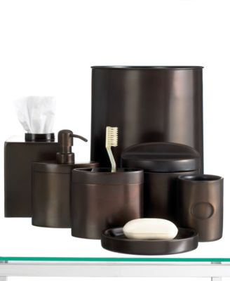 CLOSEOUT! Hotel Collection Executive Oil Bronze Toothbrush Holder