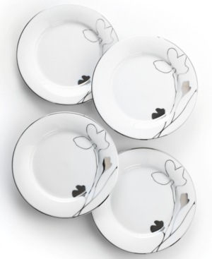 Charter Club Dinnerware, Set of 4 Grand Buffet Platinum Silhouette Round Appetizer Plates