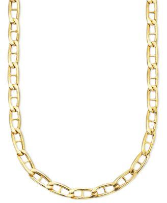 14k gold necklace marine link