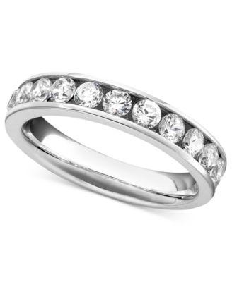 diamond band ring in 14k white gold 1 ct tw