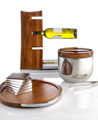 nambe wood and metal barware collection bar wine