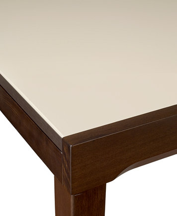 Caf Latte Glass Top Dining Table