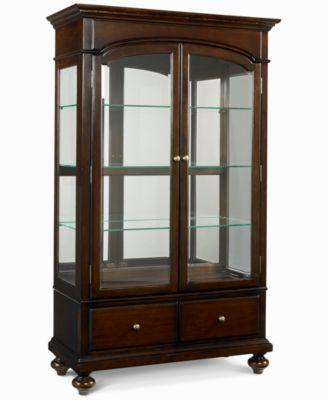 bradford china curio cabinet