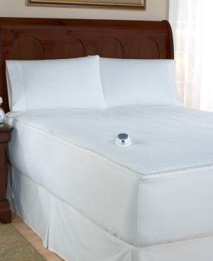Perfect Fit Bedding, Removable Top Heated Twin Mattress Pad Bedding