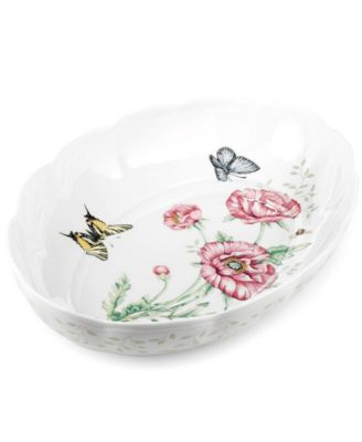 Lenox Bakeware, Butterfly Meadow Scalloped Oval Baker