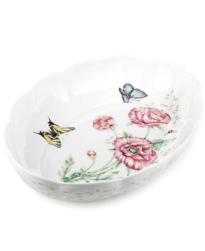 """Lenox """"Butterfly Meadow"""" Scalloped Oval Baker"""