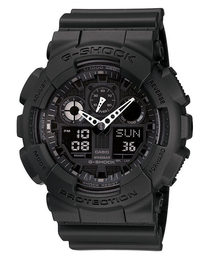 G-Shock - Men's Black Resin Strap Watch GA100-1A1