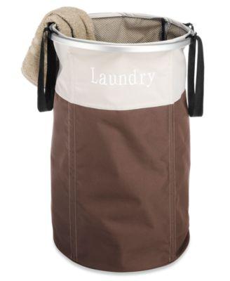Kikkerland world map travel laundry bag storage organization whitmor java laundry hamper portable gumiabroncs Choice Image