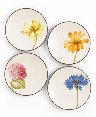 Noritake Dinnerware, Set of 4 Colorwave Chocolate Floral Appetizer Plates