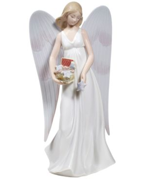 Lladro Christmas Ornament, Angelic Stars Tree Topper