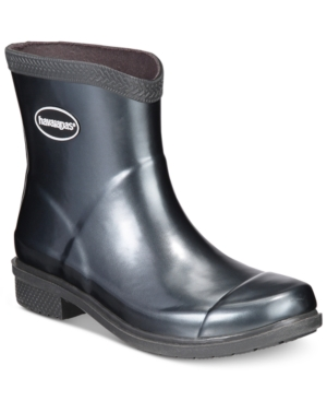 Havaianas Galochas Low Metallic Rain Booties Women's Shoes