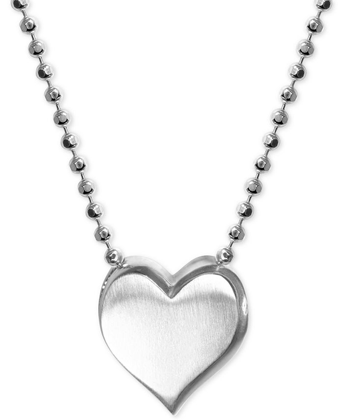 Alex Woo - Heart Pendant Necklace in Sterling Silver