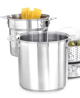 allclad stainless steel 12 qt covered multi pot with