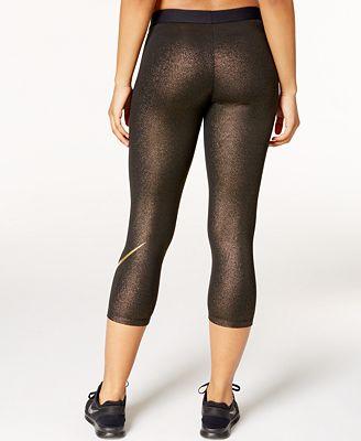 Nike Pro Cool Gold Capri Leggings - Pants & Capris - Women - Macy's