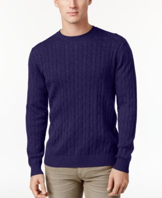 Club Room Men's Cable-Knit Sweater Vest, Only at Macy's - Sweaters ...
