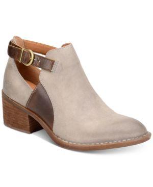 Born Carin Block-Heel Booties Women's Shoes