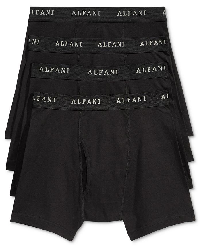 Alfani - Men's 4-Pk. Cotton Boxer Briefs