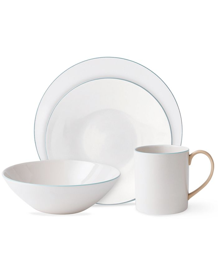 Wedgwood - Dinnerware, Nature's Canvas Limestone 4 Piece Place Setting