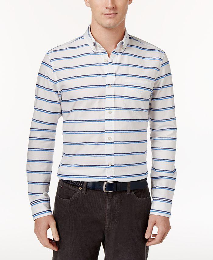 Tommy Hilfiger - Men's Crayon Striped Shirt