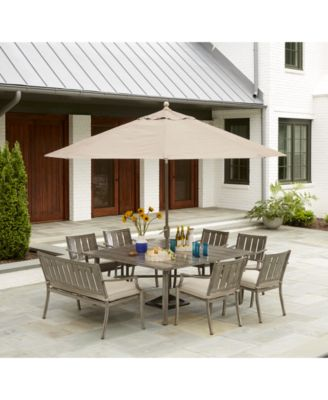 Wayland Outdoor 11' Umbrella and Base, with Sunbrella® Fabric, Created for Macy's